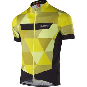 Löffler Metric Fietsshirt korte mouwen Heren geel/zwart